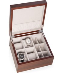 4 watch and 6 cufflink storage box
