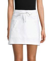 alala women's baja kangaroo-pocket mini skirt - white - size l