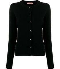 twin-set slim-fit knit cardigan - black