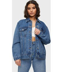 missguided oversized denim jacket jeansjackor