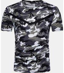 magliette casual da uomo manica corta tattica militare o-collo estiva estiva