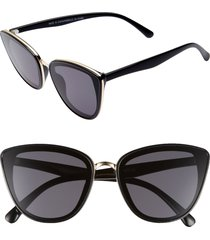women's bp. 59mm perfect cat eye sunglasses - black/ gold