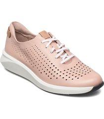 un rio tie låga sneakers rosa clarks