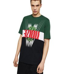 polera t just a11 t shirt multicolor diesel