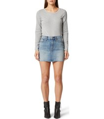 hudson jeans the viper denim mini skirt