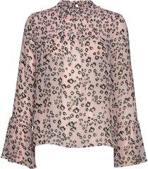 donna blouse blouse lange mouwen roze by malina