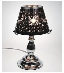 black celestial touch lamp oil/tart warmer - use with scentsy wax