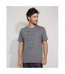 """camiseta masculina manga curta esportiva ace road cycling"""" gola careca cinza mescla"""""""