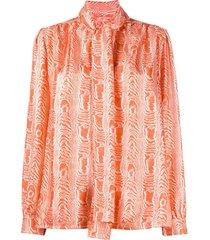 marni pussy bow blouse - orange