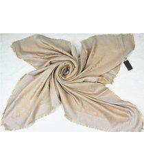 louis vuitton large beige cotton foulard scarf 140 x 140 cm