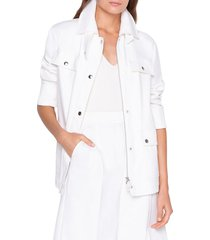 akris punto women's finn safari jacket - jasmine - size 2