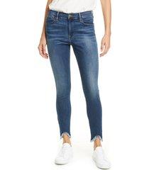 women's frame le high waist triangle hem ankle skinny jeans