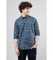 camisa pf reserva folhagem bicolor masculina