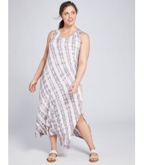 lane bryant women's livi tie-dye maxi dress 18/20 desert rose