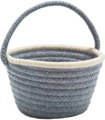 easter pastel wool braided basket