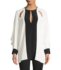 aime two-tone cut out tunic