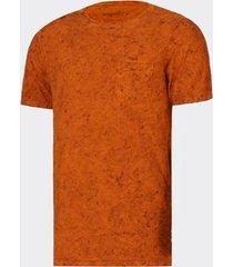 camiseta burnett mescla ocre masculina