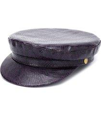 manokhi snakeskin-print greek fisherman hat - purple