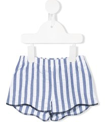 il gufo striped fitted shorts - white