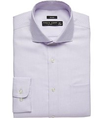 pronto uomo men's lilac patterned modern fit dress shirt - size: 15 1/2 34/35 - only available at men's wearhouse