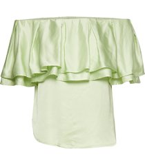 diva top blouses short-sleeved groen birgitte herskind