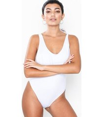 missguided high leg drop side swimsuit sportbadkläder