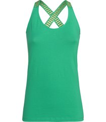 summum 3s4214-30016 652 singlet stripe organic luxury basics leaf green groen