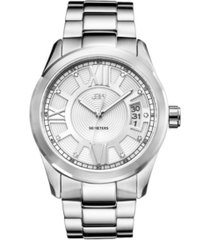jbw men's bond diamond (1/10 ct.t.w.) stainless steel watch