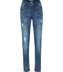 jeans elasticizzati morbidi fantasia slim fit (blu) - john baner jeanswear