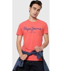 camiseta coral-azul pepe jeans