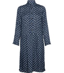 dress long sleeve jurk knielengte blauw noa noa