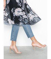 nly shoes transparent strap heel high heel