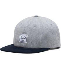 herschel supply co. whaler twill hat in heather grey/peacoat at nordstrom