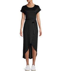 stellah women's tulip-hem t-shirt dress - black - size l
