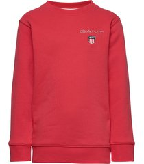 d1. medium shield sweat c-neck sweat-shirt trui rood gant