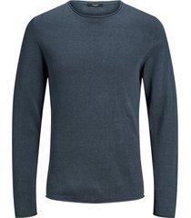 jack & jones pullover 12137548 dark dusty blue - blauw