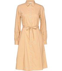 beatrice midi shirt dress knälång klänning beige soft rebels