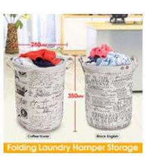 280x350mm dobrável de linho de algodão cesto de roupa lavadora de roupa classificador saco cesto de armazenamento decoração da sua casa