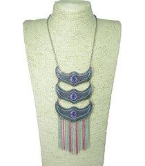 collar plateado sasmon ref cl-12630