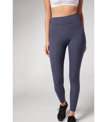 calzedonia active leggings woman blue size s