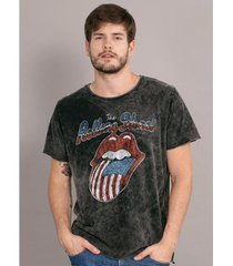 camiseta bandup marmorizada the rolling stones usa flag