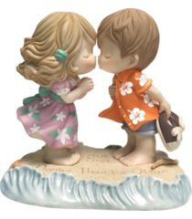 precious moments our love is deeper than the ocean bisque porcelain figurine