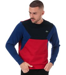 mens colourblock cotton fleece sweatshirt