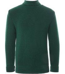 heimat mini roll neck sweater | green | heimin-grn