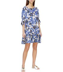 boutique moschino dress wide moschino boutique crepe dress with floral print