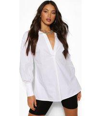 tall longline shirt, white