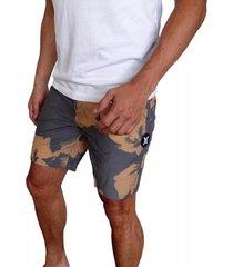 pantaloneta hurley beachside swarm para hombre - ocre