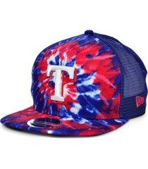 new era texas rangers tie dye mesh back 9fifty cap