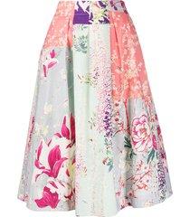 etro full shape floral print skirt - pink