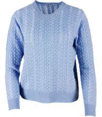 malo long-sleeved crewneck sweater with pigtails in light cashmere